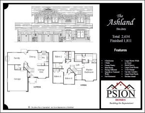 1811 Two Story Floor Plan