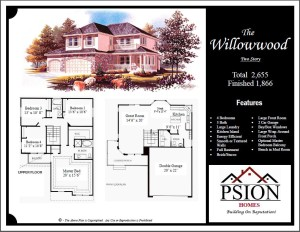 1866 Two Story Floor Plan