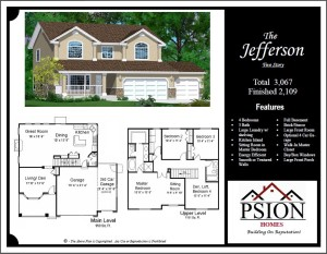 2109 Two Story Floor Plan