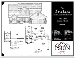 2129 Two Story Floor Plan