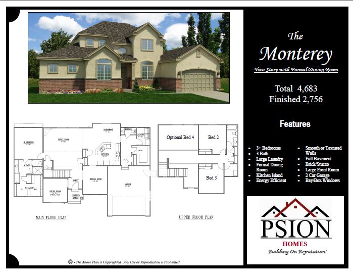2 story floor plans psion homes for Select floor plans